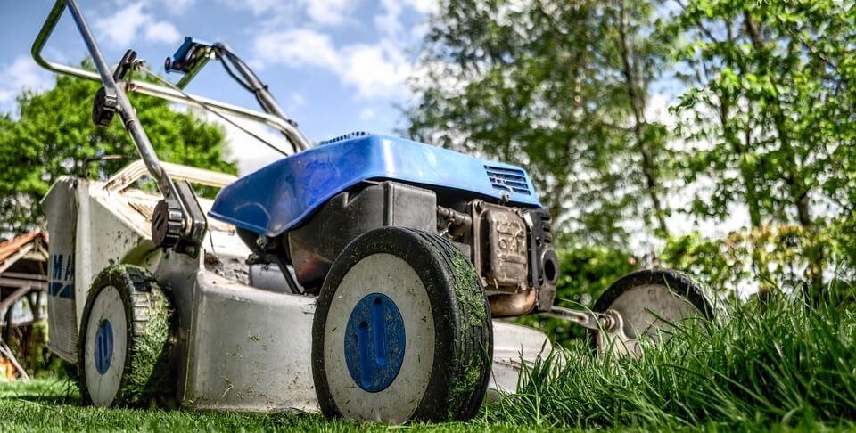 lawnmower in the garden